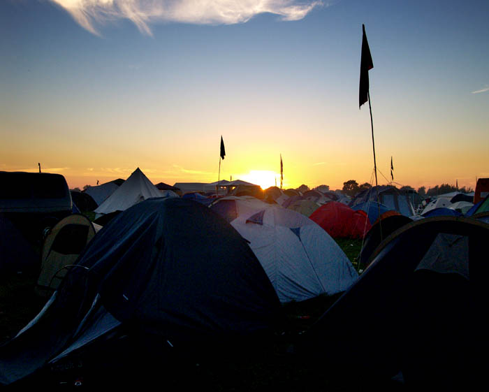 sunset over wacken
